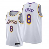 Kobe Bryant Los Angeles Lakers #8 Lakers White Association Jersey
