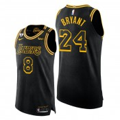 Kobe Bryant #24 Lakers Black 8.24 Mamba Day Authentic Special Edition Jersey 2020 Honors Kobe